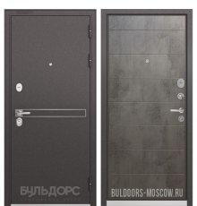 Дверь Бульдорс STANDART-90 Черный шелк D-4/Бетон темный 9S-135