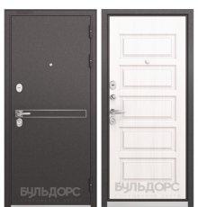 Дверь Бульдорс STANDART-90 Черный шелк D-4/Дуб светлый матовый 9S-108