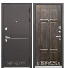 Дверь Бульдорс STANDART-90 Черный шелк D-4/Дуб шале серебро 9S-109