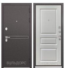 Дверь Бульдорс STANDART-90 Черный шелк D-4/Ларче белый 9SD-2
