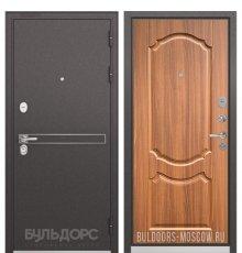 Дверь Бульдорс STANDART-90 Черный шелк D-4/Орех лесной 9SD-4