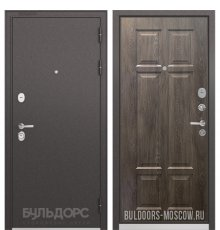 Дверь Бульдорс STANDART-90 Черный шелк/Дуб шале серебро 9S-109