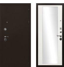 Дверь Ратибор Троя 3К Зеркало Белый Матовый