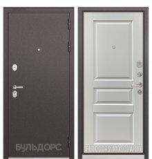 Дверь Бульдорс STANDART-90 Черный шелк/Ларче белый 9SD-2