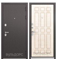 Дверь Бульдорс STANDART-90 Черный шелк/Ларче бьянко 9S-111