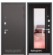Дверь Бульдорс STANDART-90 Черный шелк/Ларче шоколад 9P-140, mirror
