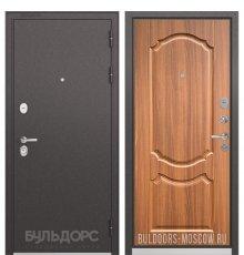Дверь Бульдорс STANDART-90 Черный шелк/Орех лесной 9SD-4