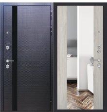 Дверь ZMD Люкс 3D Зеркало XXL Белая сосна