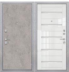 Дверь ZMD Лофт бетон SB Белый глянец