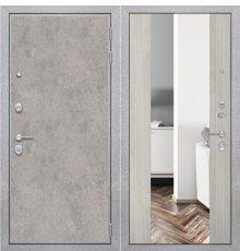 Дверь ZMD Лофт бетон Зеркало XXL Белая сосна