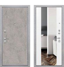 Дверь ZMD Лофт бетон Зеркало XXL Сноу фото