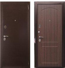 Дверь Евро 2 Б2 Орех тесненный фото