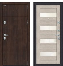 Дверь входная металлическая Porta M 4.П23 Almon 28 / Cappuccino Veralinga