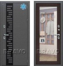 Дверь Bravo Термо 220 Антик Серебро/Wenge Veralinga