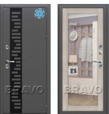 Дверь Bravo Термо 220 Антик Серебро/Cappuccino Veralinga