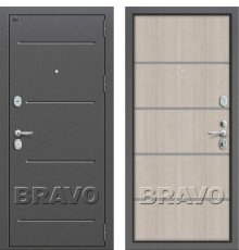 Дверь Bravo Т2-204 Cappuccino Crosscut