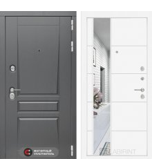 Дверь Лабиринт Платинум с Зеркалом 19 - Белый софт