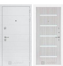 Дверь Лабиринт Трендо 01 - Сандал белый, стекло белое