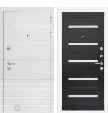Дверь Лабиринт Трендо 01 - Венге, стекло белое