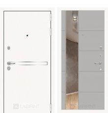 Дверь Лабиринт Лайн WHITE с Зеркалом 19 - Грей софт