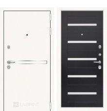 Дверь Лабиринт Лайн WHITE 01 - Венге, стекло белое