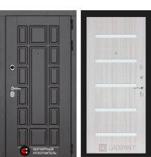 Дверь Лабиринт Нью-Йорк 01 - Сандал белый, стекло белое фото