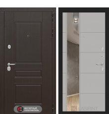 Дверь Лабиринт Мегаполис с Зеркалом 19 - Грей софт