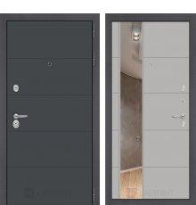 Дверь Лабиринт ART графит с Зеркалом 19 - Грей софт