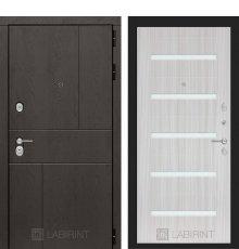 Дверь Лабиринт URBAN 01 - Сандал белый, стекло белое