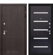 Дверь Лабиринт URBAN 01 - Венге, стекло белое