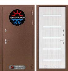 Дверь Лабиринт Термо Магнит 01 - Сандал белый, стекло белое