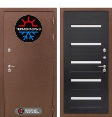 Дверь Лабиринт Термо Магнит 01 - Венге, стекло белое