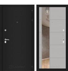 Дверь Лабиринт CLASSIC шагрень черная с Зеркалом 19 - Грей софт
