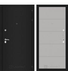 Дверь Лабиринт CLASSIC шагрень черная 13 - Грей софт