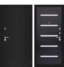 Дверь Лабиринт CLASSIC шагрень черная 01 - Венге