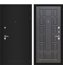 Дверь Лабиринт CLASSIC шагрень черная 12 - Венге