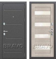 Дверь Bravo Т2-223 (95 мм) Cappuccino Veralinga/White Pearl