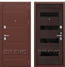 Дверь Bravo Т2-223 (95 мм) Wenge Veralinga/Black Star