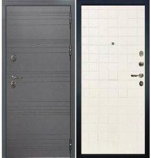 Дверь Легион Графит софт / Белый ясень (панель №56)