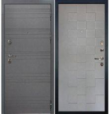 Дверь Легион Графит софт / Квадро Графит софт (панель №72)