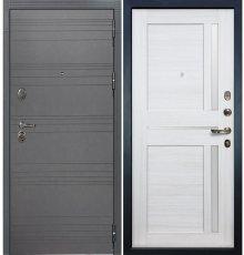 Дверь Легион Графит софт / Баджио Беленый дуб (панель №47)