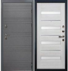 Дверь Легион Графит софт / Сицилио Беленый дуб (панель №46)