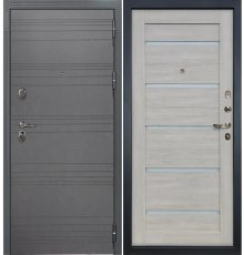 Дверь Легион Графит софт / Клеопатра Ясень кремовый (панель №66)