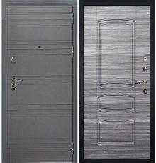 Дверь Легион Графит софт / Сандал серый (панель №69)
