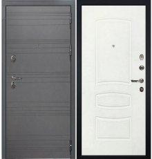 Дверь Легион Графит софт / Белая шагрень (панель №68)