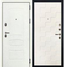 Дверь Легион Белая шагрень / Квадро Белая шагрень (панель №71)