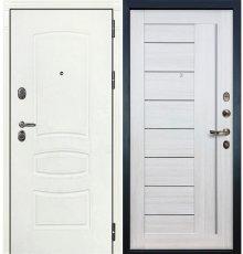 Дверь Легион Белая шагрень / Верджиния Беленый дуб (панель №38)