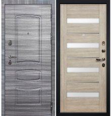 Дверь Легион Сандал серый / Сицилио Ясень кремовый (панель №48)