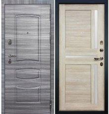Дверь Легион Сандал серый / Баджио Кремовый ясень (панель №49)