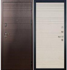 Дверь Легион Ясень шоколадный / Дуб фактурный крем (панель №63)